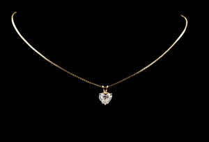 Heart Diamond Pendant & Chain