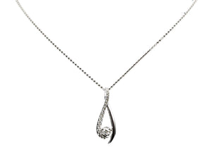 Diamond white gold pendant