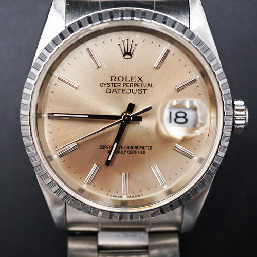 Rolex Stainless Datejust watch 16220