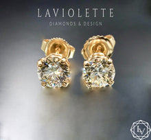 Load image into Gallery viewer, 1.50 CTW Diamond Stud Earrings