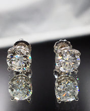 Load image into Gallery viewer, 2.50 CTW Diamond Stud Earrings