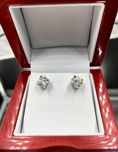 2.00 CTW Diamond Stud Earrings