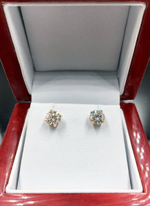 1.25 CTW Diamond Stud Earrings