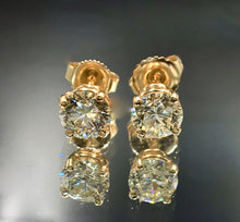 Load image into Gallery viewer, 1.25 CTW Diamond Stud Earrings