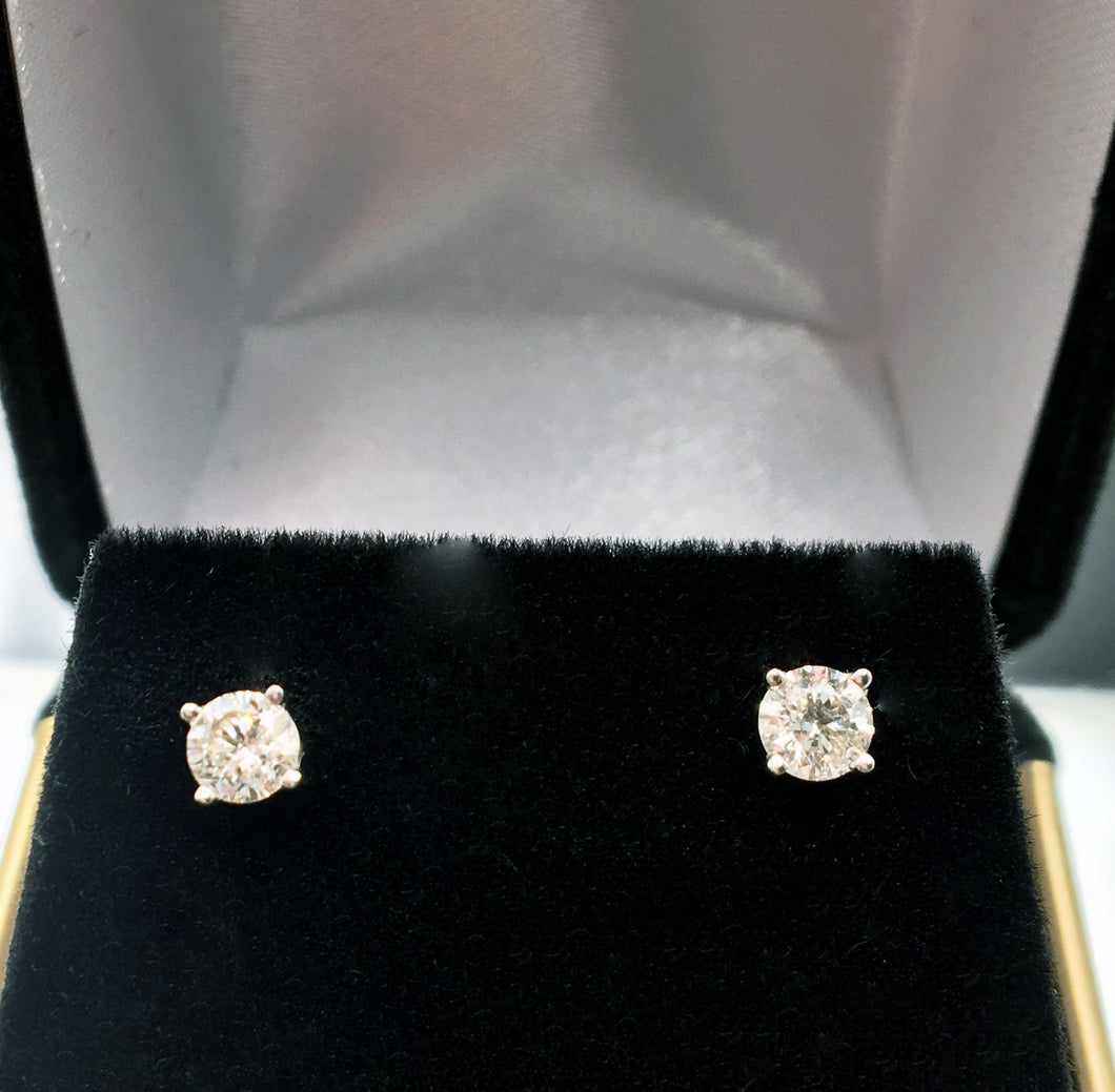 .40 CTW 14 KT WG Diamond Stud Earrings
