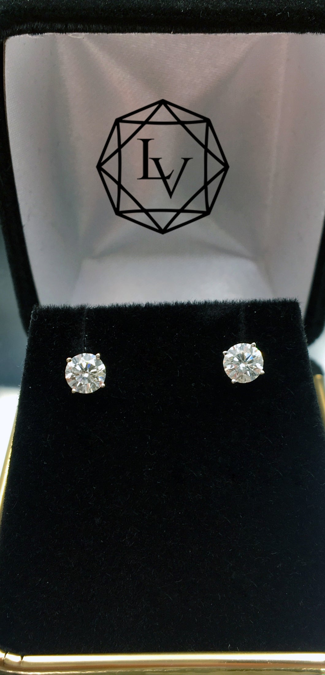 .75 CTW VS/G 14 KT WG Diamond Stud Earrings