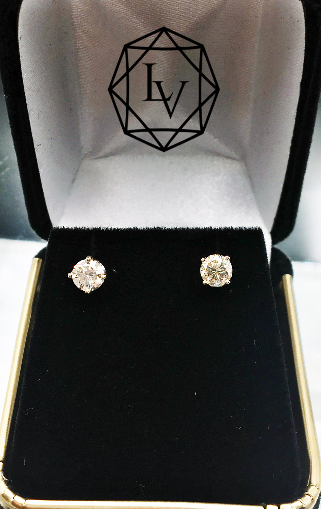 .80 CTW 14 KT WG Diamond Stud Earrings