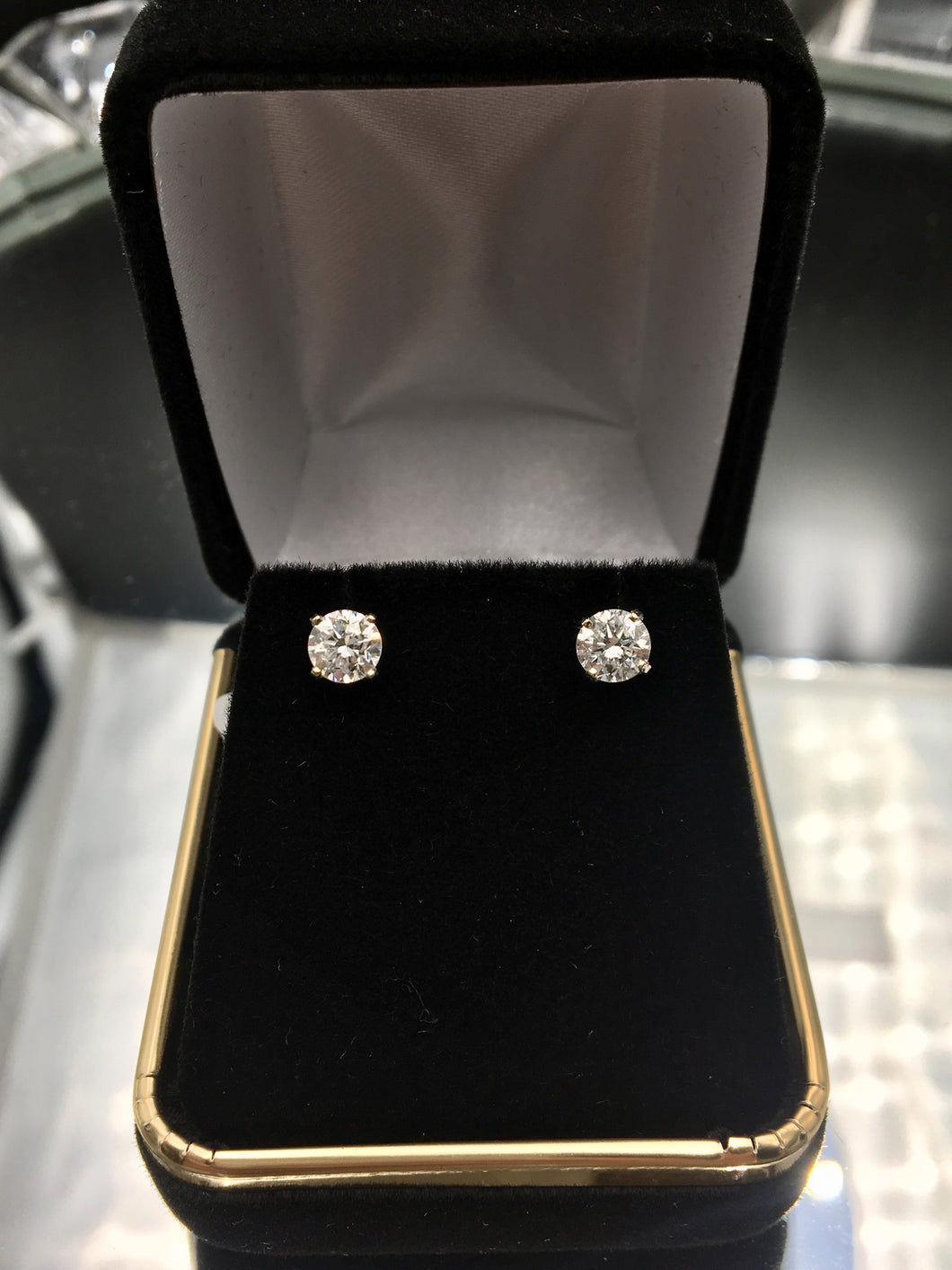 .90 CTW Diamond Stud Earrings