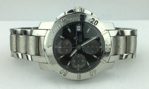 Baume and Mercier Capeland Chronograph Automatic Watch Stainless Steel 65352