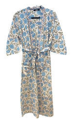 Load image into Gallery viewer, Blue Flowers Kimono