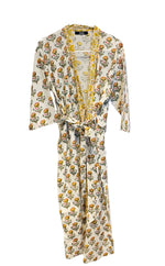 Load image into Gallery viewer, Yellow and flowers Kimono