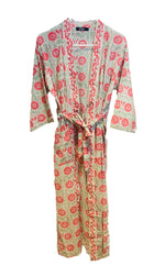 Load image into Gallery viewer, Pink and Mint Kimono