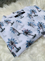 Load image into Gallery viewer, Blue Palm Tree Kimono