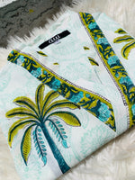 Load image into Gallery viewer, Green Palm Tree Kimono