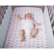 Load image into Gallery viewer, Baby In Cot With SafeDreams 2 Sided Hypoallergenic Breathable Cot Bumper