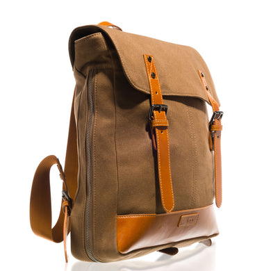 Beau Joel Unisex Designer Backpack / Messenger Changing Bag In Olive