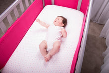 Load image into Gallery viewer, SafeDreams 4 Sided Hypoallergenic Breathable Cot Bumper - With Safebreathe Technology - Raspberry