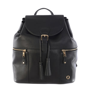 KeriKit Leather Baby Changing Backpack - Black