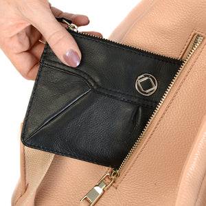 Wallet/Purse Pouch For KeriKit Leather Baby Changing Backpack - Nude