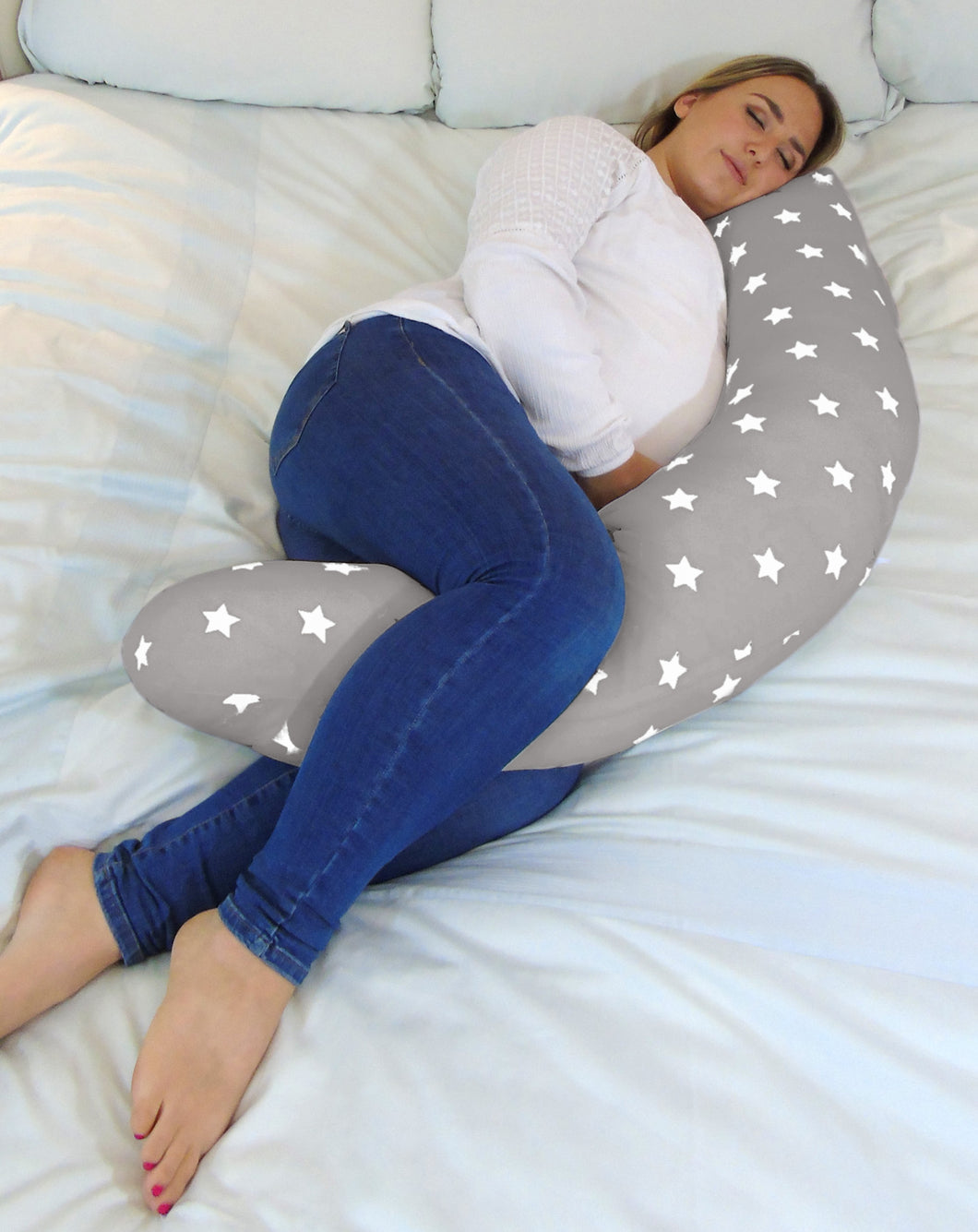 Sleep Solution Support Widgey Plus Pregnancy and Sleep Pillow/Body Support - Night Star Print