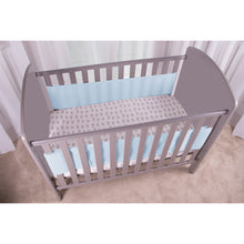 Load image into Gallery viewer, Angled View of SafeDreams 2 Sided Hypoallergenic Breathable Cot Bumper