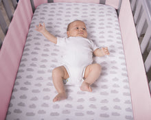 Load image into Gallery viewer, SafeDreams 4 Sided Hypoallergenic Breathable Cot Bumper - With Safebreathe Technology - Pink