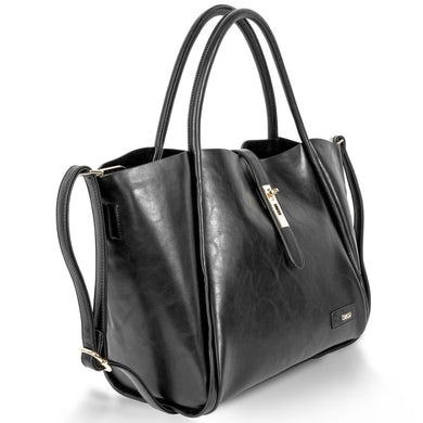 Black Designer Tote Style Changing Bag