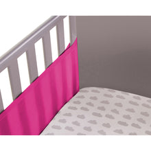 Load image into Gallery viewer, Corner Shot of SafeDreams 2 Sided Hypoallergenic Breathable Cot Bumper