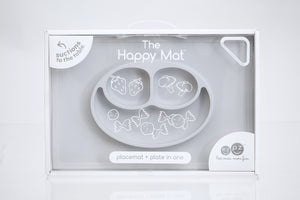 Packaging for EZPZ Happy Mat Silicone Feeding Mat - Pewter