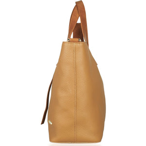 Side View of Beau Ellie Designer Leather Changing Bag