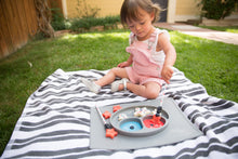 Load image into Gallery viewer, Play Mat EZPZ Happy Mat Silicone Feeding Mat - Pewter