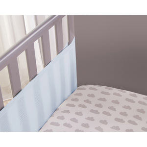 Inside of Cot Showing SafeDreams 2 Sided Hypoallergenic Breathable Cot Bumper