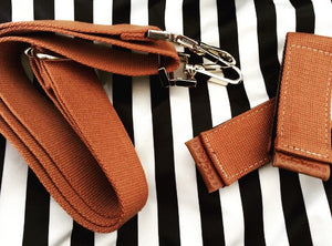 Brown Clips and Straps for Tote Bag