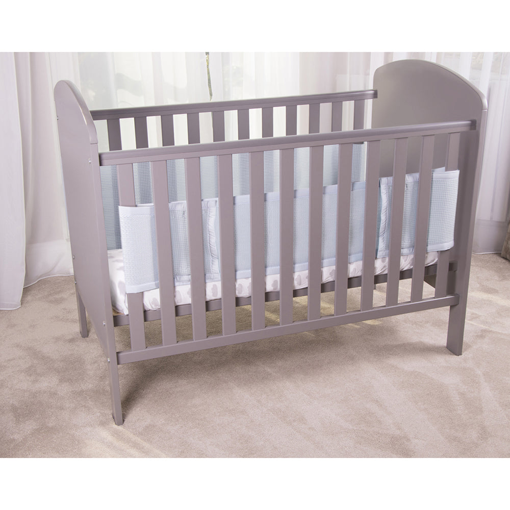 Blue SafeDreams 2 Sided Hypoallergenic Breathable Cot Bumper