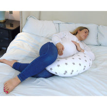 Load image into Gallery viewer, Sleep Support Widgey 5-in-1 Feeding Pillow Silver Star