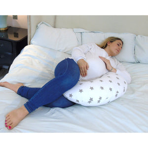 Sleep Support Widgey 5-in-1 Feeding Pillow Silver Star