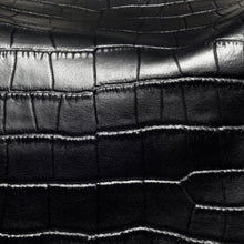 Load image into Gallery viewer, Close up design of Beau Sophia Designer Leather Changing Bag - Black croc