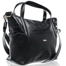 Load image into Gallery viewer, Beau Sophia Changing Bag Black Croc