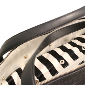 Inside Designer for Beau Sophia Designer Leather Changing Bag - Black croc