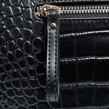 Load image into Gallery viewer, Zip Close Up & Design Beau Sophia Designer Leather Changing Bag - Black croc