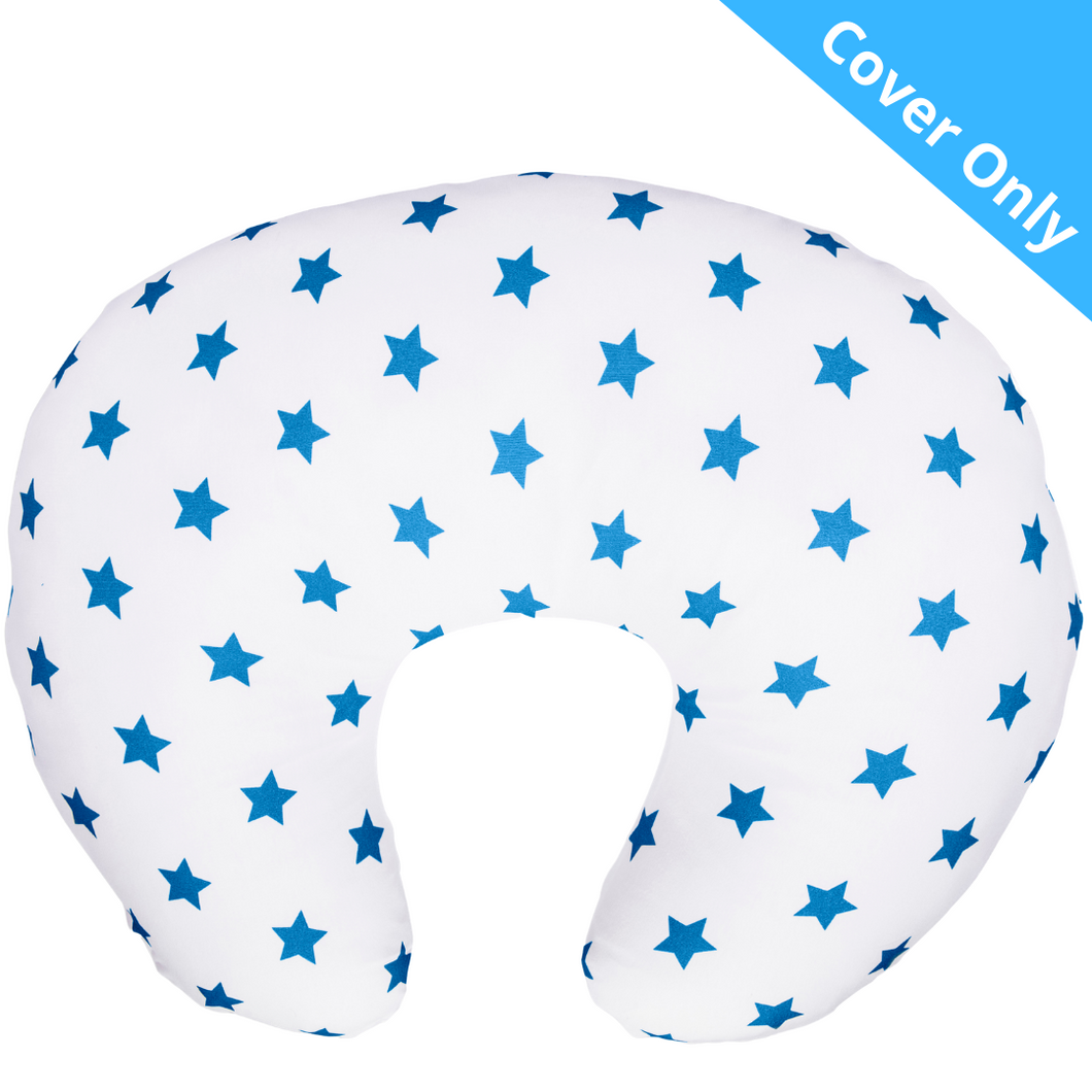 Spare Cover for Widgey Classic Feeding Pillow - Blue Star