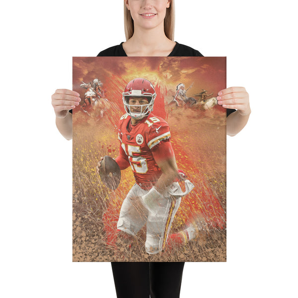 Patrick Mahomes Kansas City Chiefs Canvas Fine Art Print