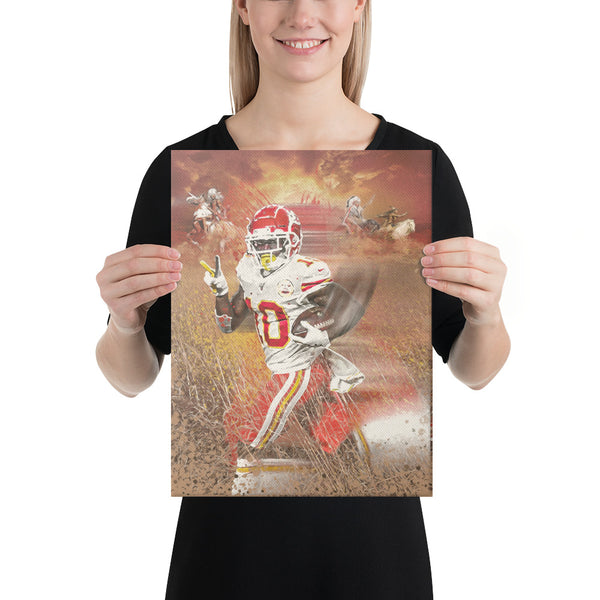 Tyreek Hill Kansas City Chiefs Fine Art Canvas Print
