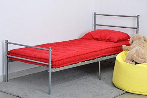 Metal Bed Frame Twin Size Silver Eggree