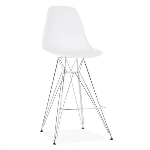Eames DSR Eiffel (Metal Base) Molded Plastic Bar Stools Dining Chairs for Living room, Dining room, Kitchen room - EGGREE