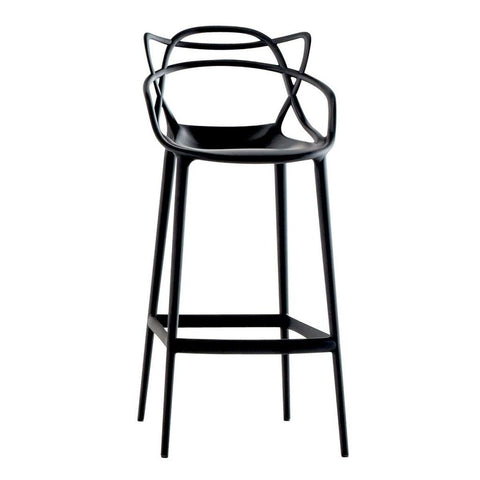 Bar Stools Dining Chairs with Sturdy Metal Base Suitable for Kitchen and Dining Room - EGGREE