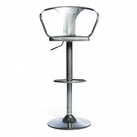 Adjustable industrial design Metal Bar Stools Swivel Barstool Chairs with Back Pub Kitchen Counter Height - EGGREE