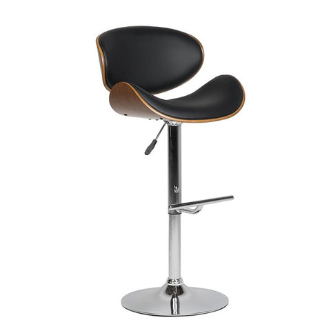 Faux Leather Swivel Bar Stool Black with Back Vinyl Seat Extremely Comfy Bar Stool - EGGREE