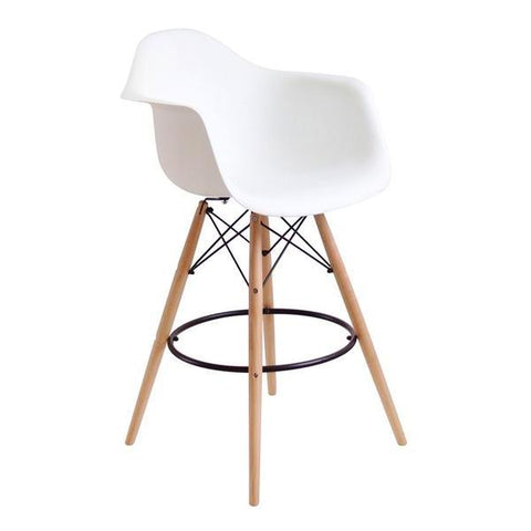 Eames DAW Bar Chair - White - EGGREE