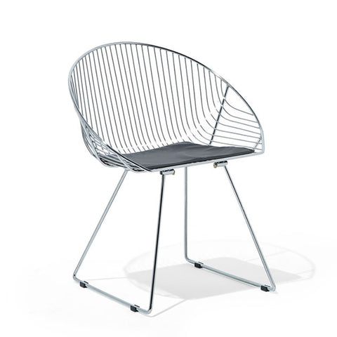 Metal Dining Chair - Silver - EGGREE